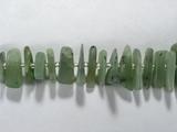 Бусина из нефрита (Россия), фигурная, 7x9 - 13x24 мм (крошка, гладкая)