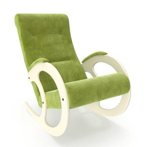 Кресло-качалка Комфорт Модель 3 дуб шампань/Verona Apple Green