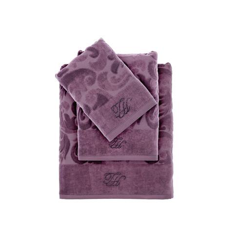 Набор полотенец  Baroc (фиолетовый)  3 пр 30х50 50Х100 и  90Х150   TIVOLYO HOME Турция