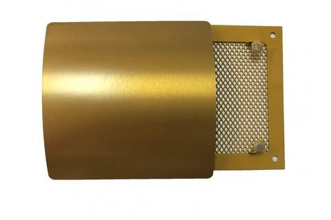 Решетка на магнитах Родфер РД-140 Латунь с декоративной панелью 140х140 мм