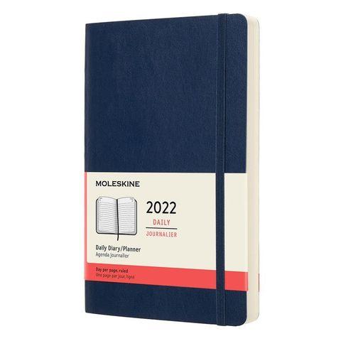 Ежедневник Moleskine (DSB2012DC3) Classic Soft Large 130х210мм 400стр. мягкая обложка синий сапфир