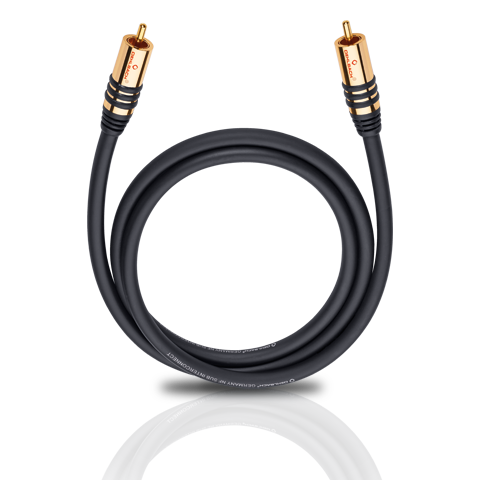 Oehlbach NF Sub black 2.0m, кабель сабвуферный (#21532)