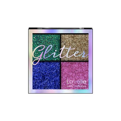 LavelleCollection Тени 4-х цветные для век Glitter тон 03 Карнавал