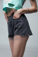 Джинсовые шорты короткие черные магазин