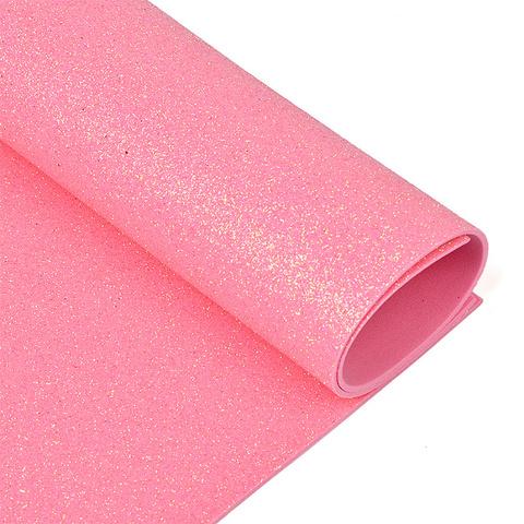 Глиттерный фоамиран. Цвет: розовый
