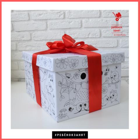 Красивая складная коробка-раскраска