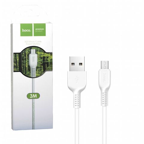 Кабель USB - microUSB Hoco X20 3м белый