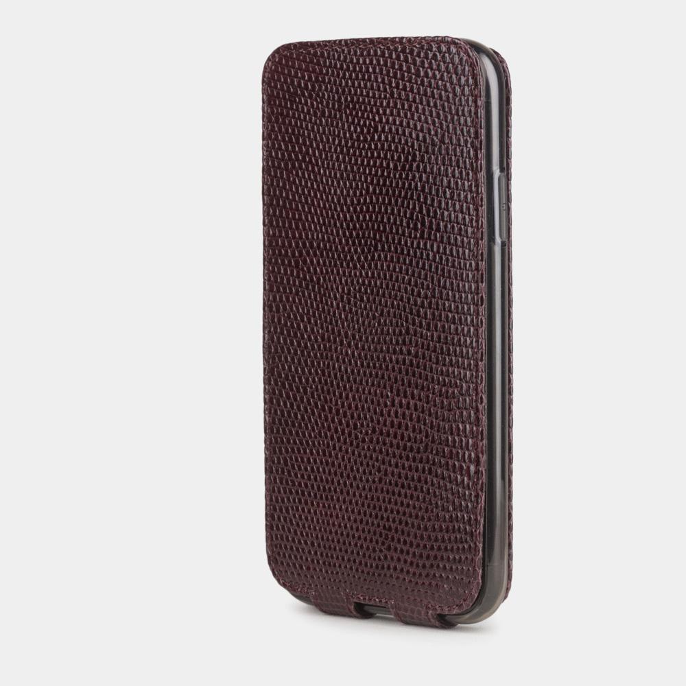 Special order: Чехол для iPhone 11 из натуральной кожи ящерицы, бордового цвета
