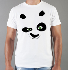 Футболка с принтом Панда, Медвежонок (Panda) белая 0022