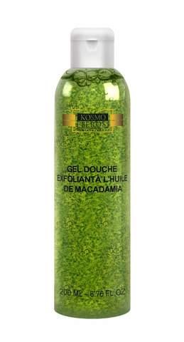 Активный специальный гель для душа с маслом макадамии, Gel douche exfoliant chuile de Macadamia, Kosmoteros (Космотерос), 200 мл