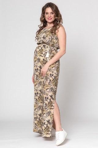 Платье для беременных 10442 хаки