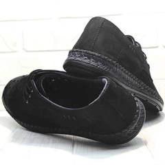 Черные туфли мокасины мужские лето стиль кэжуал Luciano Bellini 91754-S-315 All Black.