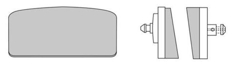 Тормозные колодки Ferodo FDB155P