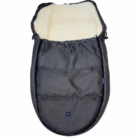 №S82 Спальный мешок в коляску exclusive (графитовый)