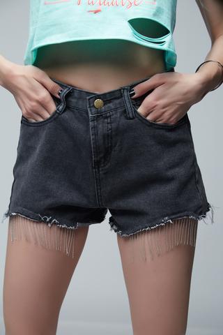 Джинсовые шорты короткие черные купить