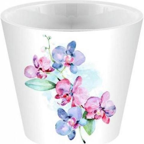 Горшок для цветов London Orchid Deco  D160 мм/1,6 л голуб орхидея ING6196ГЛ