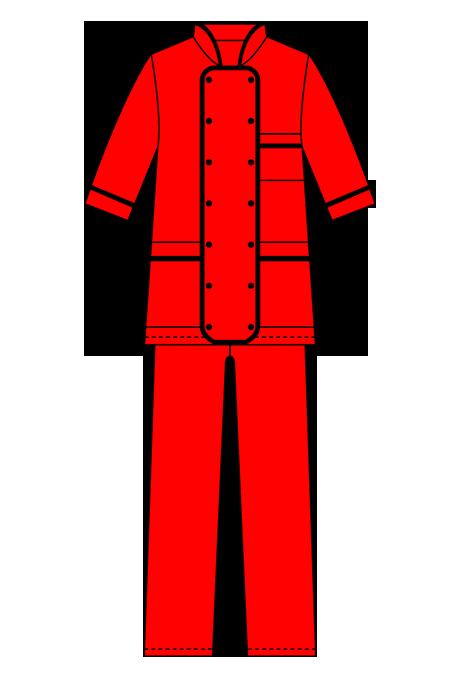 Выкройка женского костюма Повар технический рисунок
