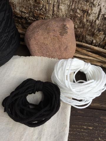 Резинка вязаная 2мм, черный