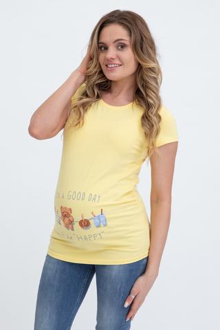 Футболка для беременных 10525 желтый