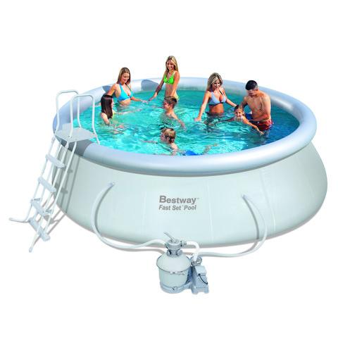 Надувной круглый бассейн Bestway 57242 (457х122 см) с песочным фильтром / 6925
