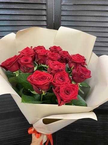 Букет из 15 голландских роз 50 см ( цвет на выбор ) #1745