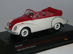 IFA F9 Cabrio white-red 1953 IST019 IST Models 1:43