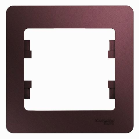 Рамка на 1 пост. Цвет Баклажановый. Schneider Electric Glossa. GSL001101