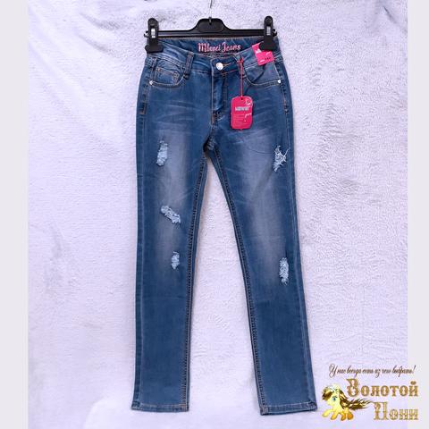 Джинсы подростковые девочке (10-11) 201223-Q3957
