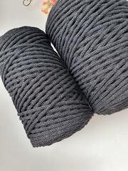 Антрацит  Хлопковый шнур 3 мм