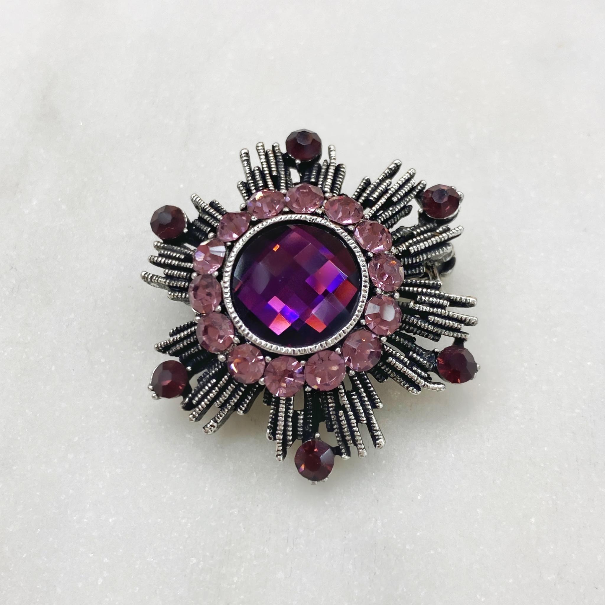 Брошь Орден Гвардейский фиолетовый серебряный