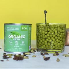 Зеленый горошек органический (без сахара) / 425 гр