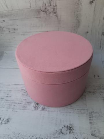 Коробка подарочная бархатистая d=18см