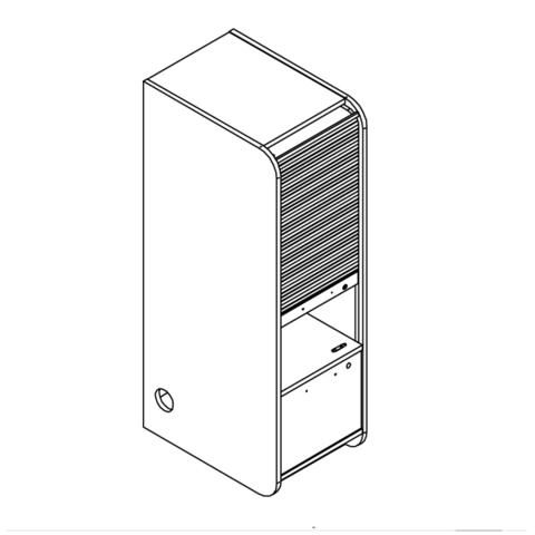 STAND UP шкаф приставной для одиночного стола