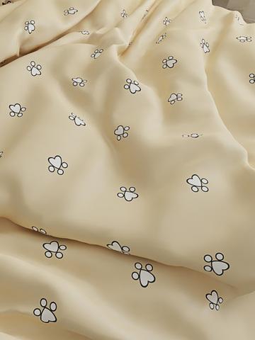 Простынь на резинке  -Котики (компаньон)- натяжная 90х200х26 см 1,5-спальная