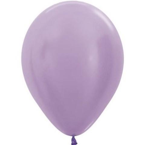 Латексный воздушный шар, цвет сиреневый перламутр