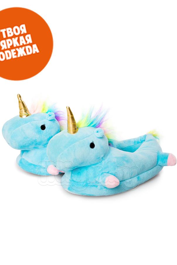 """Тапочки Тапочки """"Slippers Unicorn Голубые"""" Slippers_Unicorn_2.jpg"""
