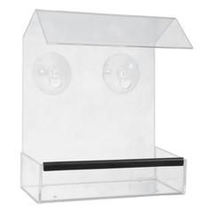 Кормушка для птиц прозрачная, 15х8х17 см