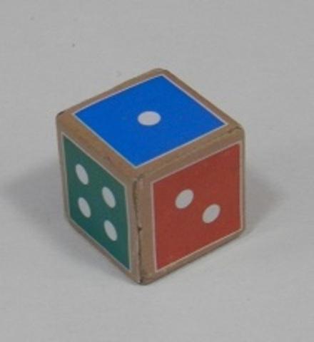 Кубик игральный 1,6*1,6*1,6 (из МДФ) /Задира/