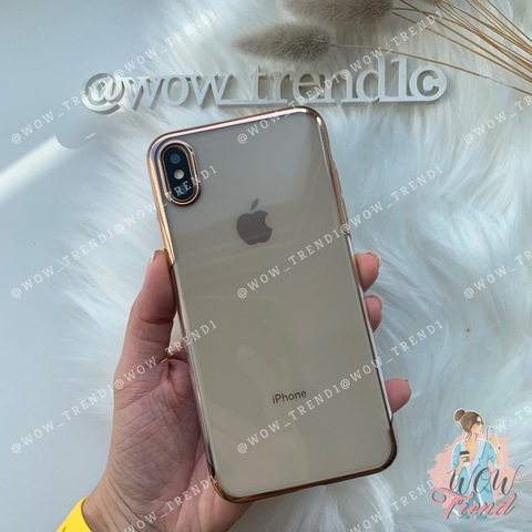 Чехол iPhone X/XS Baseus Shining Case /gold/