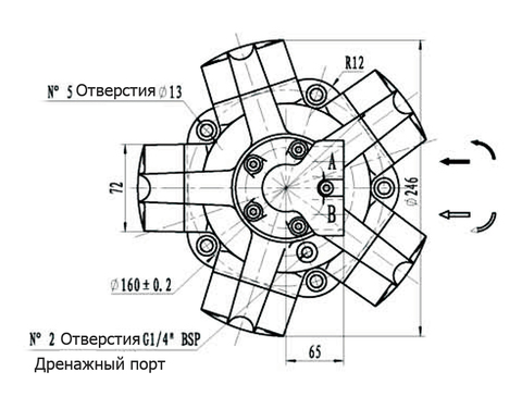 Гидромотор IPM1-100