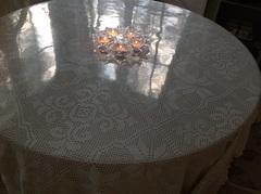 Скатерть круглая прозрачная 110 см толщина 2 мм