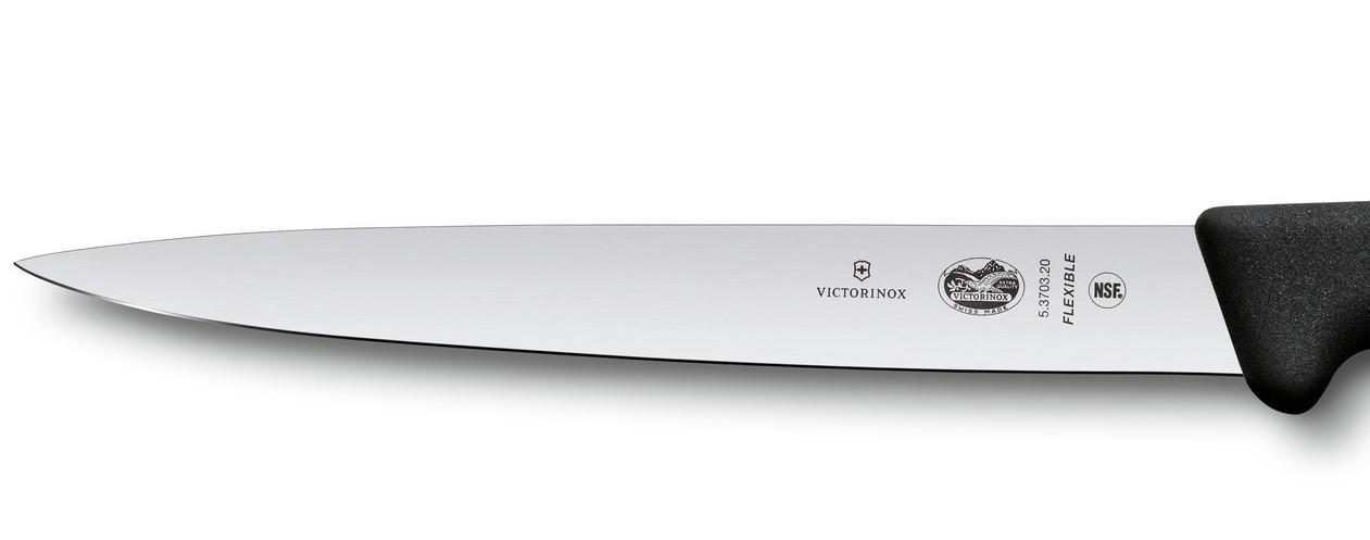 Кухонный нож Victorinox Fibrox филейный (5.3703.20) гибкое лезвие 20 см | Wenger-Victorinox.Ru