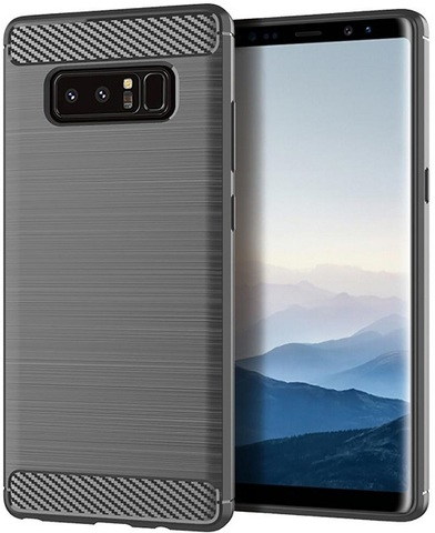 Чехол Samsung Galaxy Note 8  цвет Gray (серый), серия Carbon, Caseport