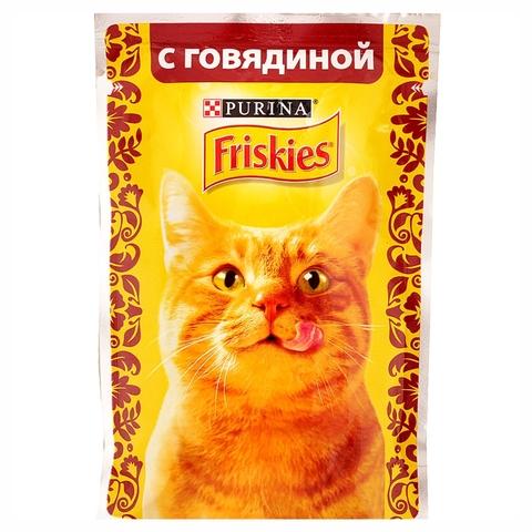 Корм FRISKIES Говядина 85 гр м/у РОССИЯ