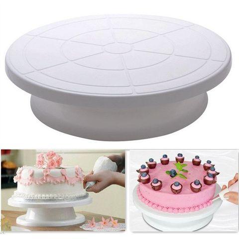 Столик поворотный, подставка для торта D28 H8 см, оптом 24 шт.