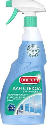 Средство д/мытья стекол,пластика и зеркал UNICUM 500мл спрей