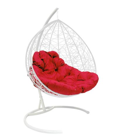 Кресло подвесное Lagos TWIN white/crimson