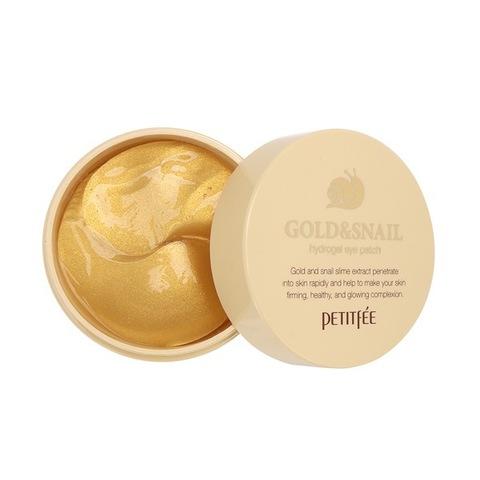 PETITFEE Гидрогелевые патчи для глаз  ЗОЛОТО/УЛИТКА PETITFEE Gold/Snail Hydrogel Eye Patch, 60 шт
