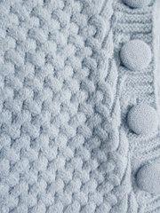 Папитто. Конверт вязаный на пуговицах полушерстяной с подкладкой велсофт, голубой вид 3