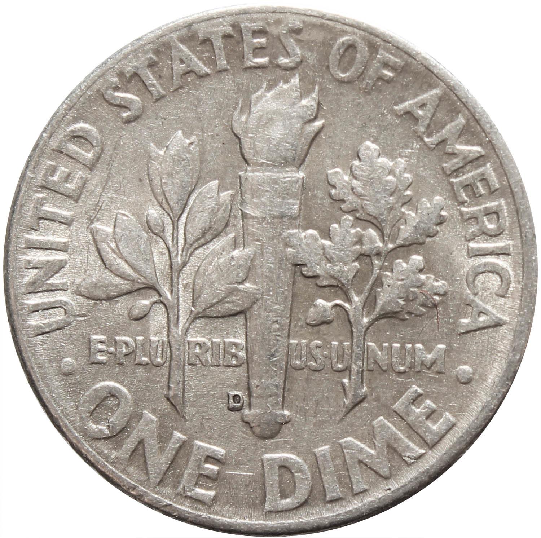 1 дайм (10 центов) 1963. США (D) VF-XF Серебро